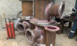piping pipe petro-chemical conical cone elbow elbows bends pipework