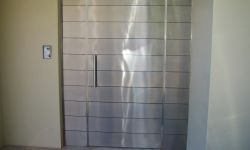 stainless steel cladded door for a residential property
