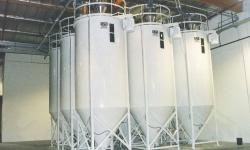Arcrite engineering mixing silos, vertical fountain mixer